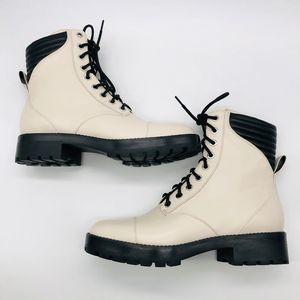 Michael Kors Bastian Cream Black Boots